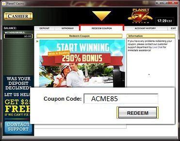 No Deposit Casino Redeem Codes