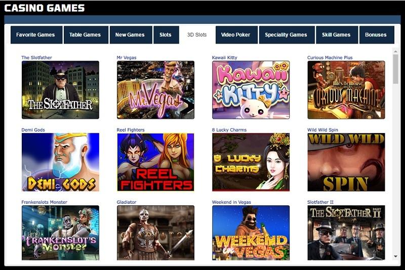 Sportsbetting.ag Casino 3D Slots