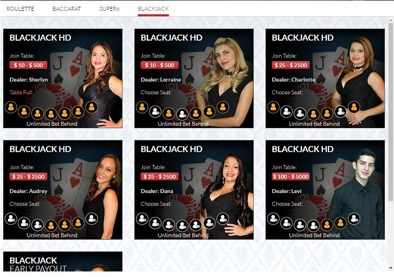 Sportsbetting.ag Casino Live Games