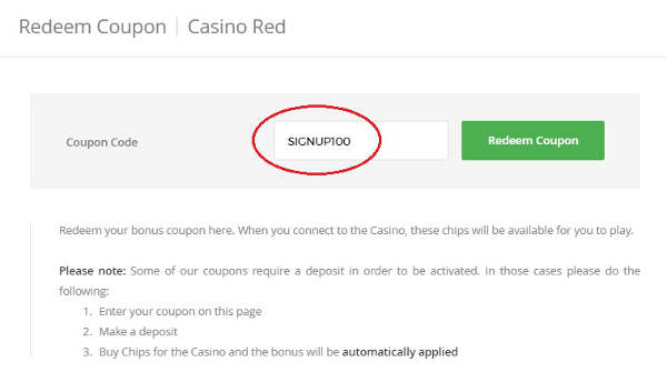 Intertops Casino Red Coupon Code