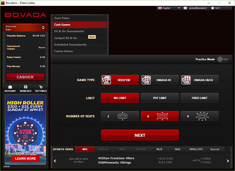 Cash Out Bovada