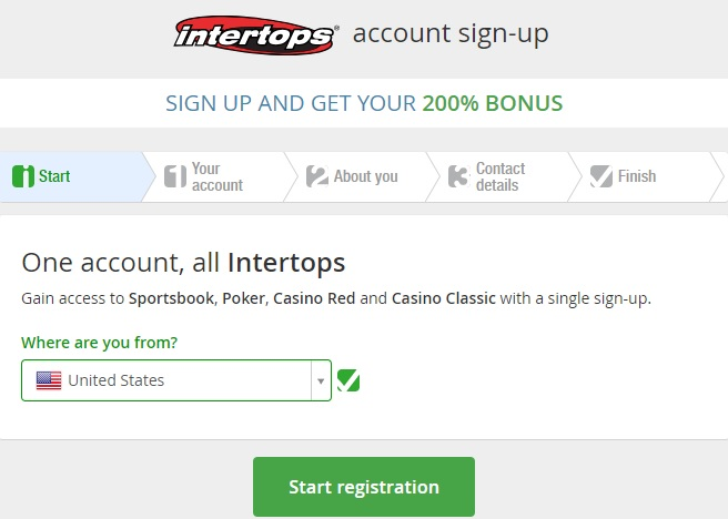 Intertops Create Account