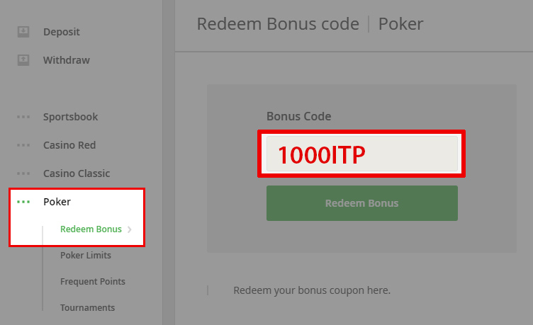 Intertops Poker Bonus Code: 1000ITP