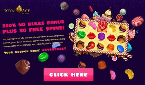 Royal Ace Casino Bonus Code: 4EVERSWEET