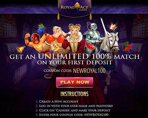 Royal Ace Casino Bonus Code: NEWROYAL100