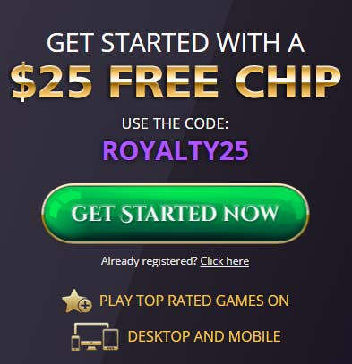 Royal Ace Casino Bonus Code: ROYALTY25
