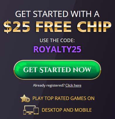 Royal Ace Casino Bonus Code: ROYALTY25