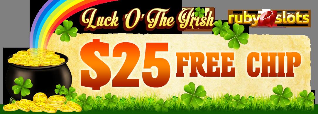 Ruby Slots $25 Free Chip No Deposit Bonus promo code