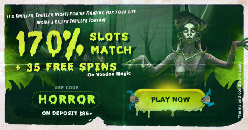 BoVegas 170% Match Bonus + 35 Free Spins coupon code
