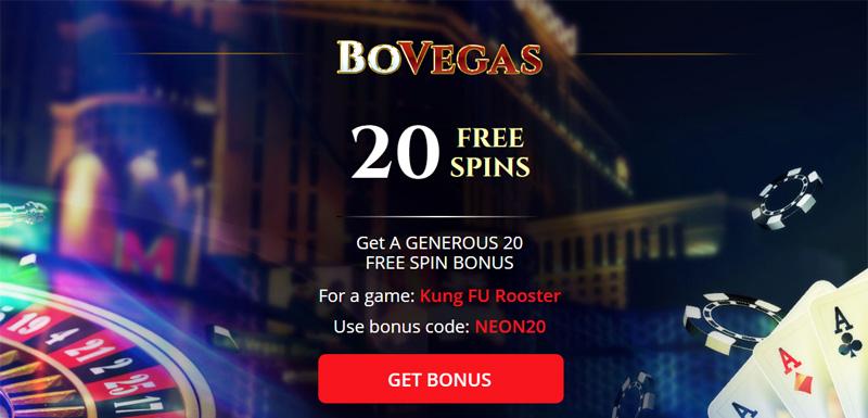 BoVegas 20 Free Spins No Deposit Bonus coupon code