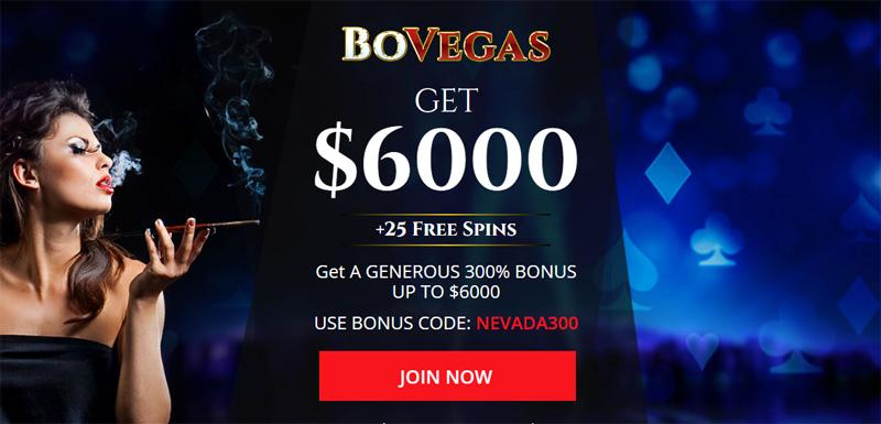 BoVegas 300% Deposit Bonus + 25 Free Spins coupon code