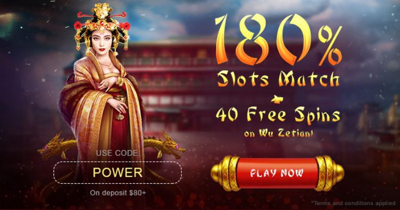 BoVegas 180% Match Bonus + 40 Free Spins coupon code
